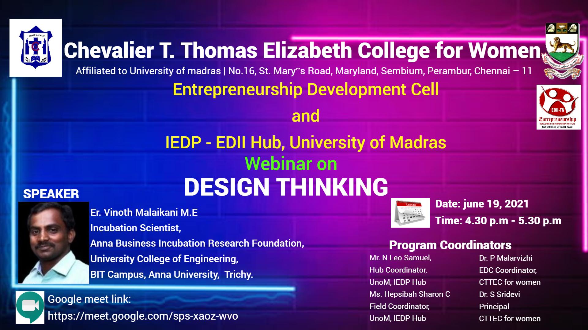 Design Thinking Webinar Invitation