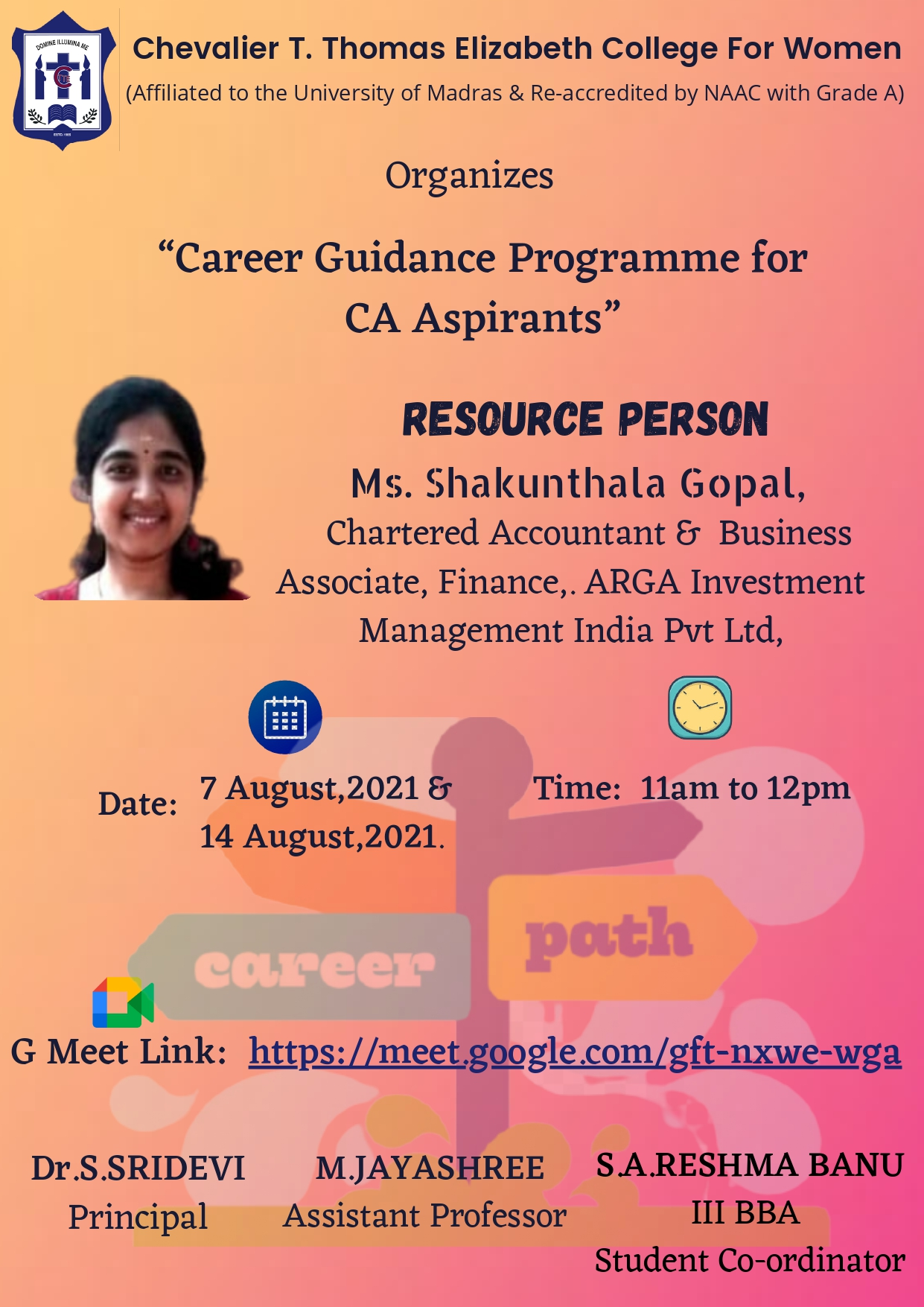 Career Guidance Programme Invite