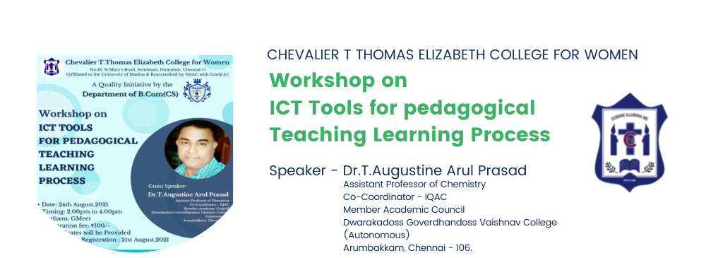 Invite - Workshop on ICT Tools for pedagogical Teaching Learning Process