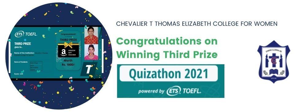 National Quizathon 2021 - Third Prize