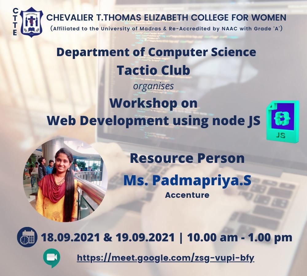 Workshop on Web Development using node JS