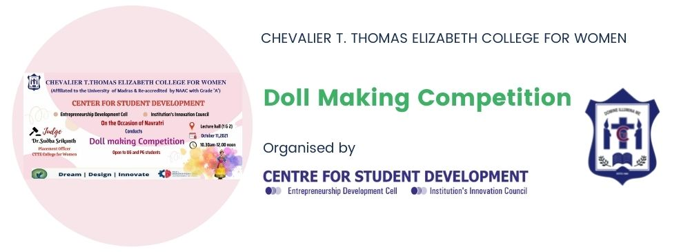 Doll Making Competition_CTTE College for Women | Arts and Science College in Chennai